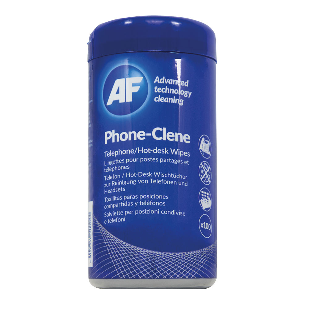 AF Phone-Clene Telephone Wipes, Pack of 100 | APHC100T