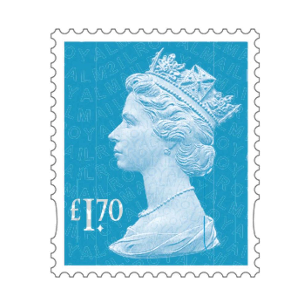 £1.70 Royal Mail Postage Stamps x 25 (Self Adhesive Stamp Sheet)