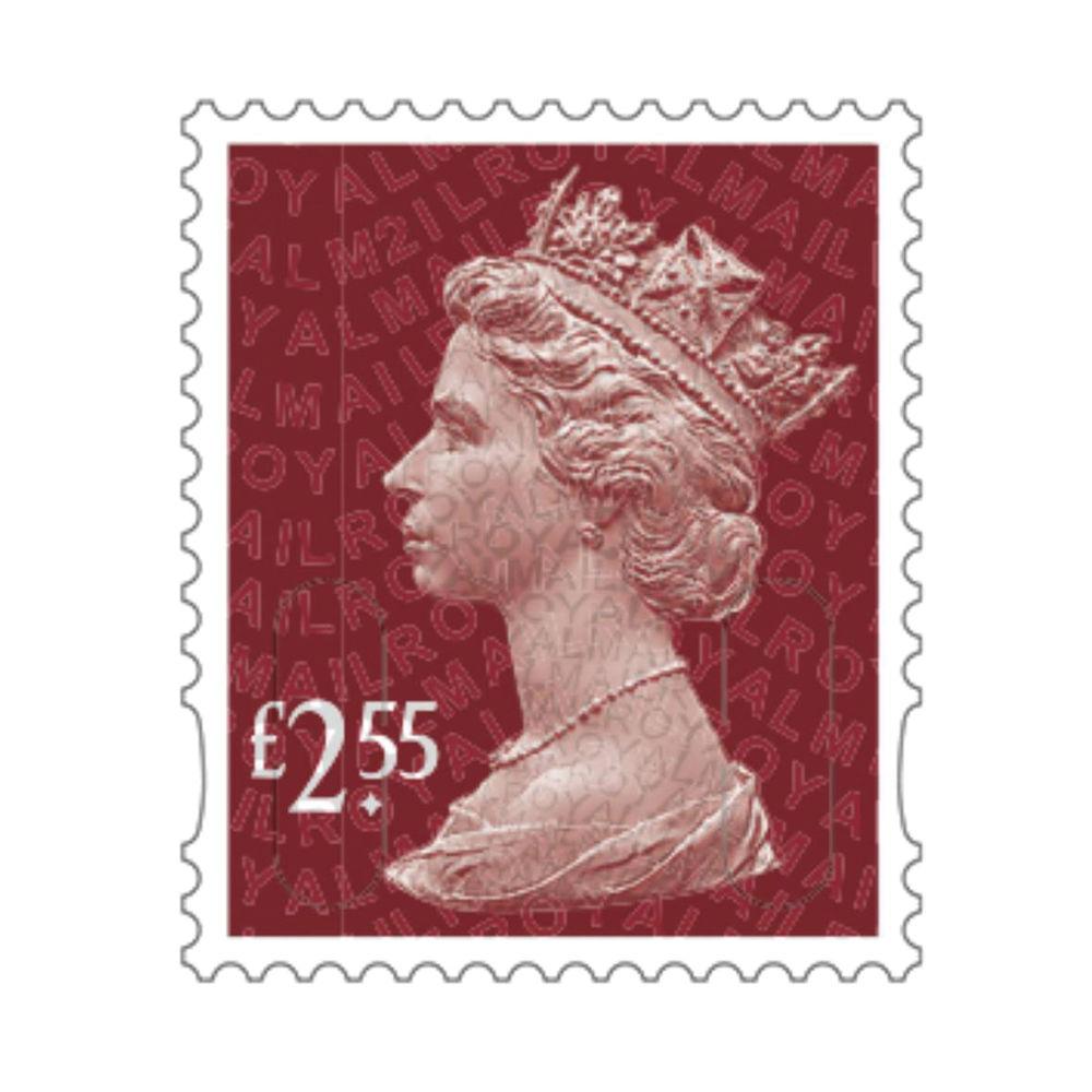 £2.55 Royal Mail Postage Stamps x 25 (Self Adhesive Stamp Sheet)