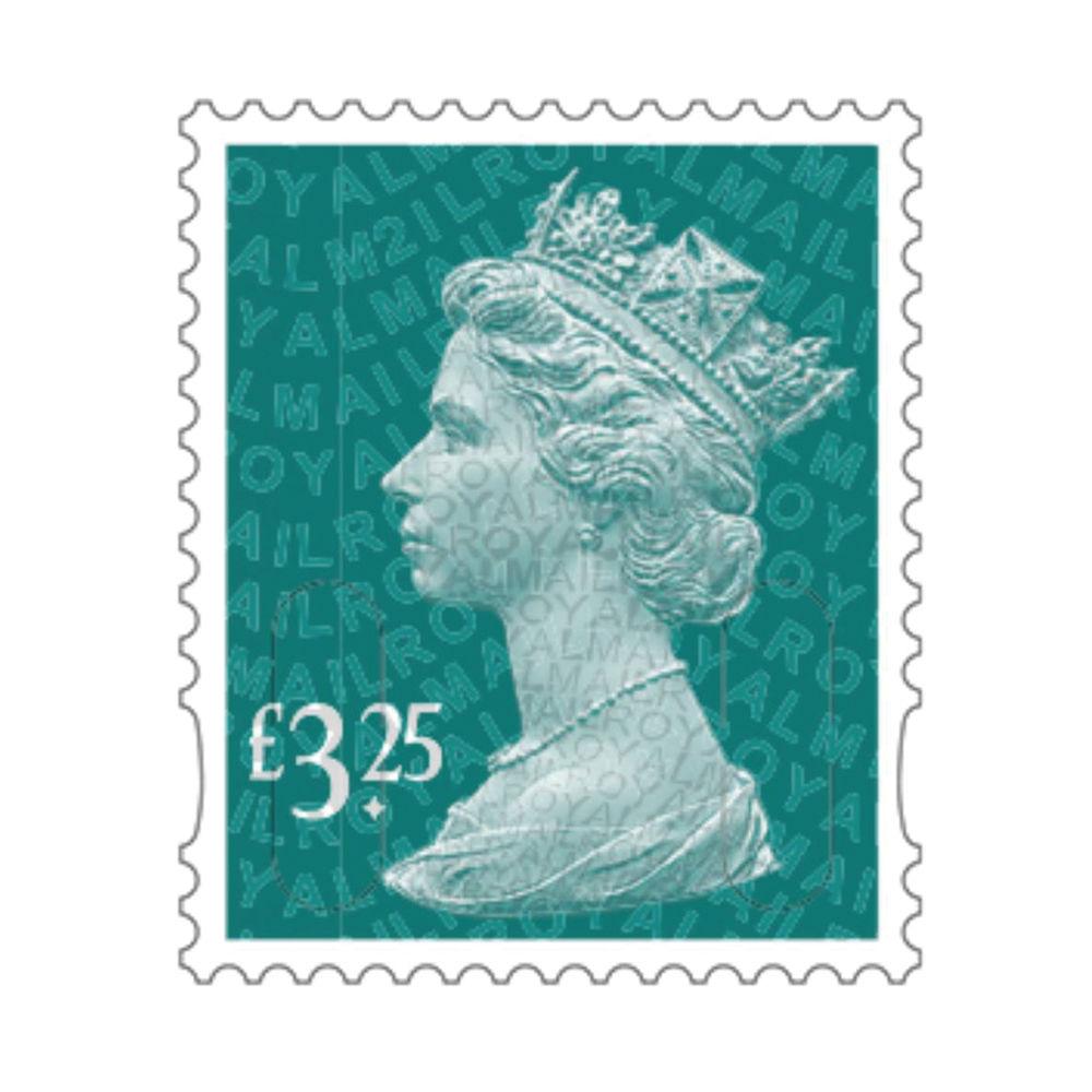 £3.25 Royal Mail Postage Stamps x 25 (Self Adhesive Stamp Sheet)