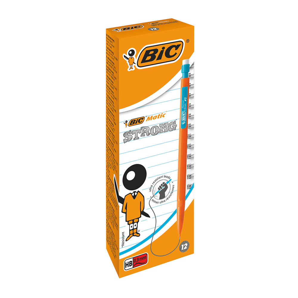 Bic Bicmatic 0.9mm Mechanical Pencils (Pack of 12) - 892271