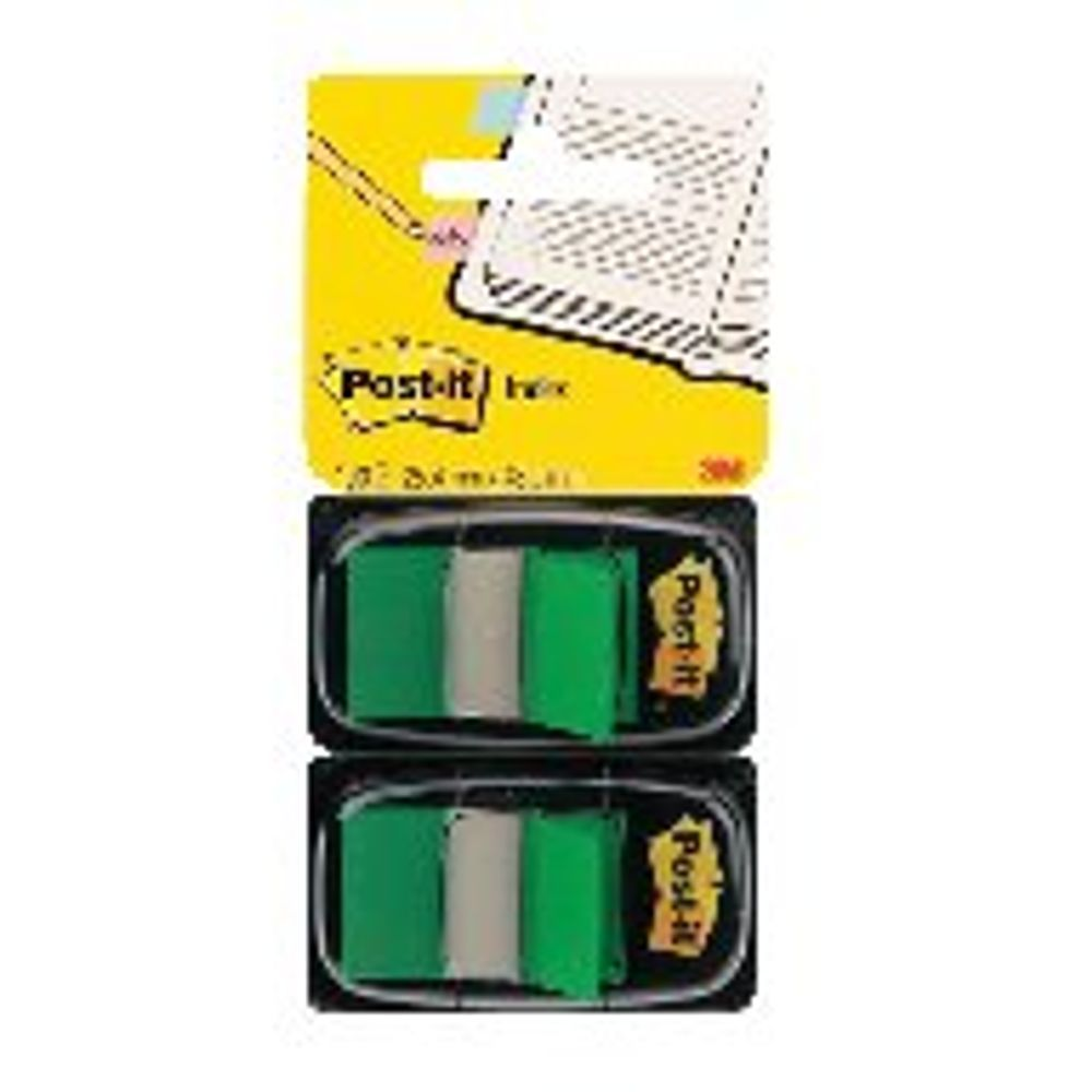 Post-it 25mm Green Index Tabs, Pack of 100 | 680-G2EU