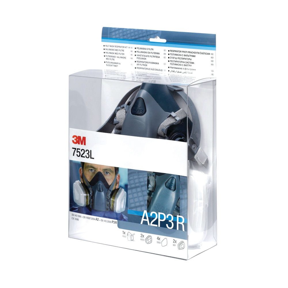 3M Half Mask and Filter Kit - 7523L