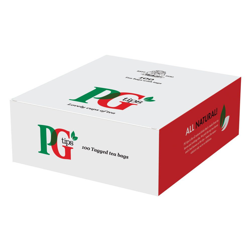 PG Tips Tagged Tea, Pack of 100 - 1004539