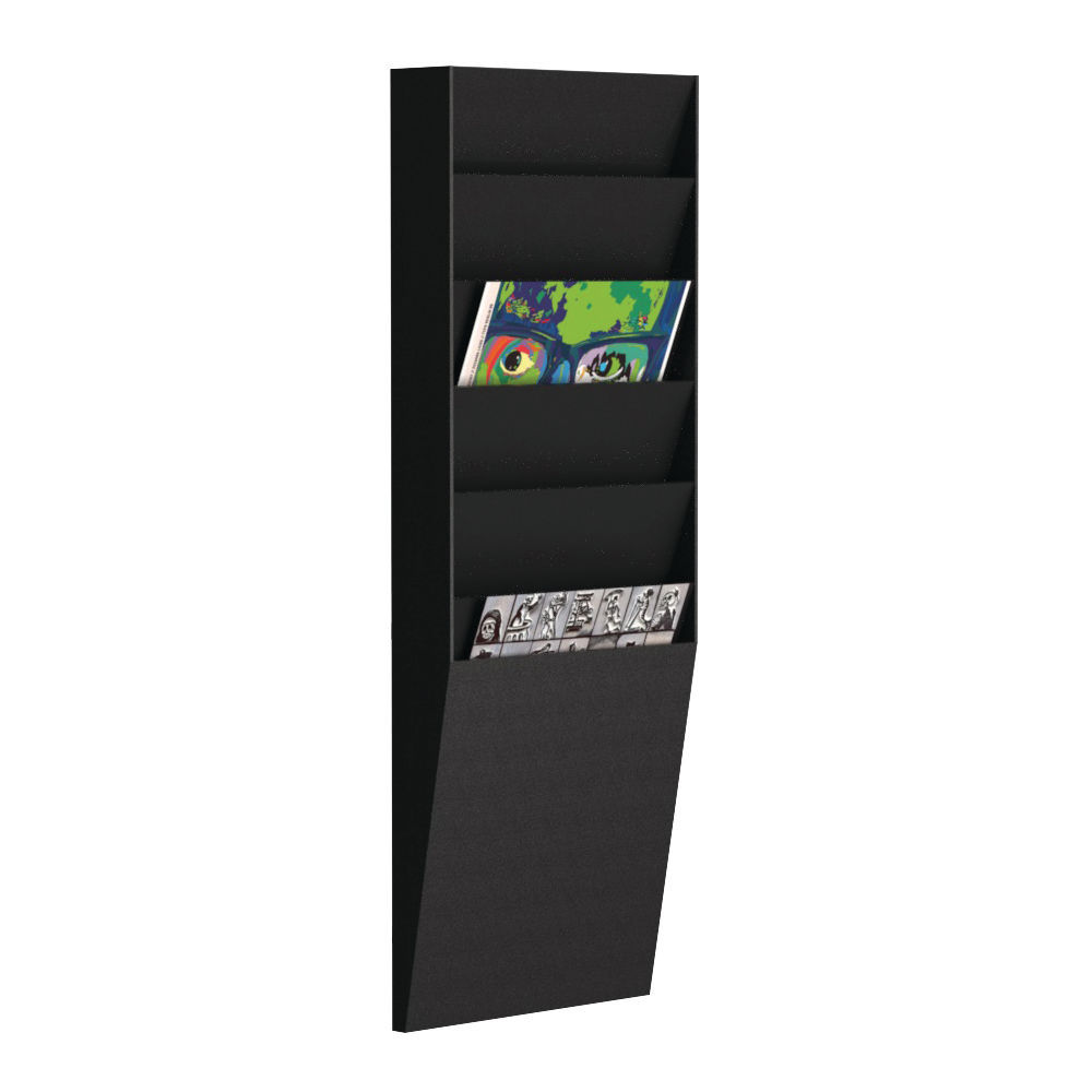 Fast Paper 6 Compartment Document Control Panel A4 Black FV1601