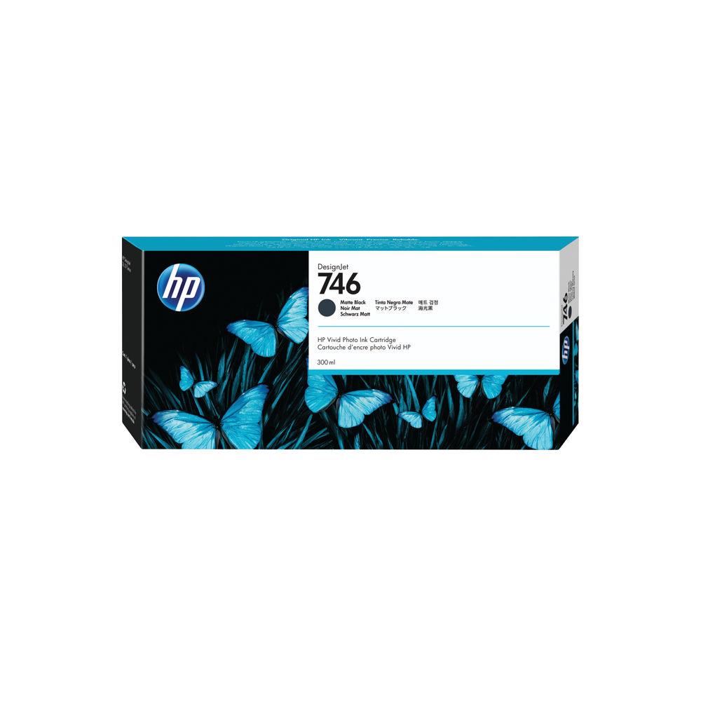 HP 746 300ml Matte Black Ink Cartridge P2V83A