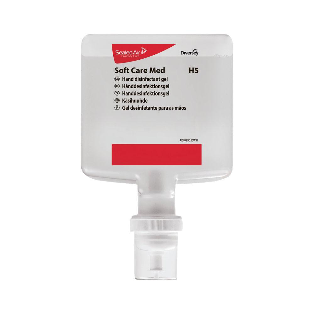 Diversey 1.3 Litre Soft Care Med H5 Hand Disinfectant Gel, Pack of 4 - 100938825