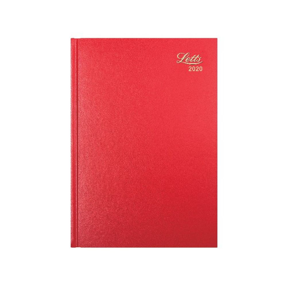 Letts Business Diary A4 Week to View 2020 Red 20-T31ZRD