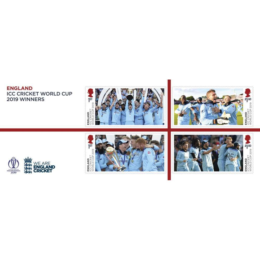 The England ICC Cricket World Cup 2019 Winners Miniature Sheet