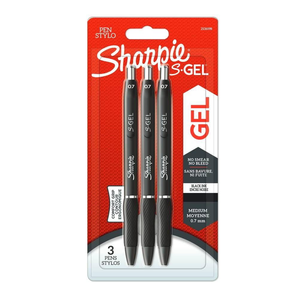Sharpie S Gel Black Pens, Pack of 3 | 2136598