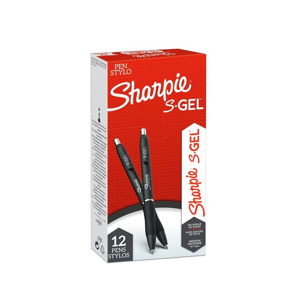 Sharpie S-Gel Red Medium Gel Pens, Pack of 12 - 2136599