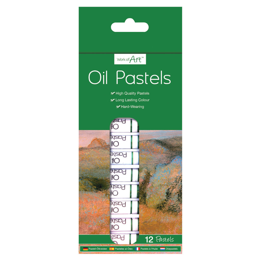 Work of Art High-Quality Oil Pastels, Pack of 12 - TAL06364