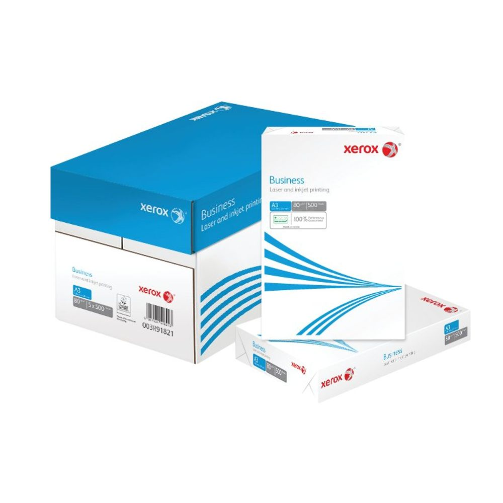 Xerox Business White A3 Paper, 80gsm, 500 Sheets - 003R91821