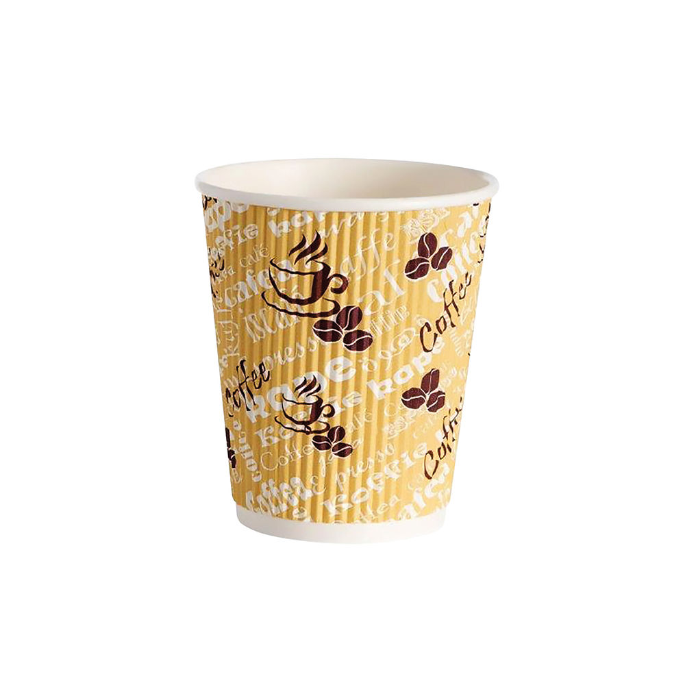 4Aces Ripple Red Bean 8oz Paper Cup (Pack of 500) HHRWPA8