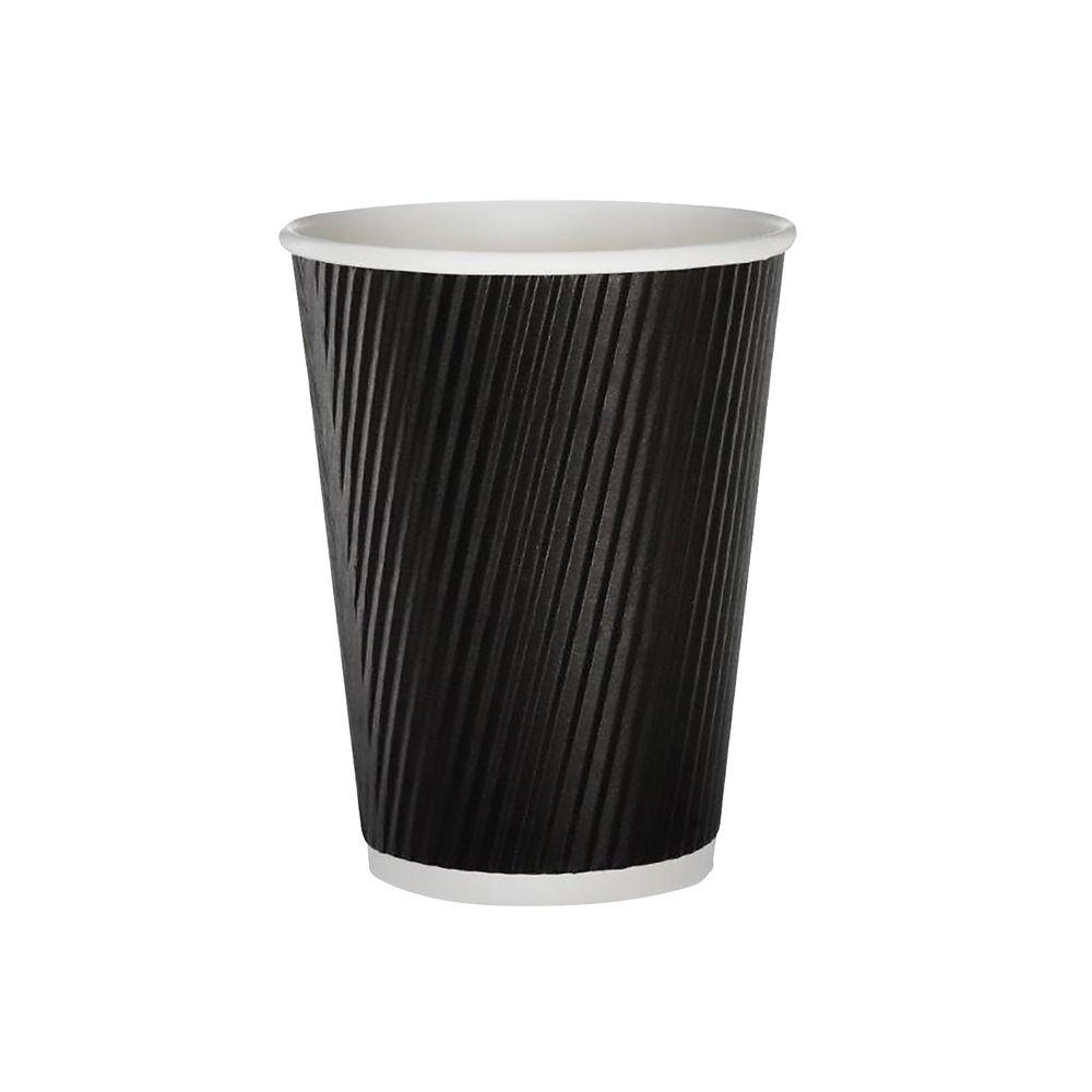 35cl Black Ripple Cups, Pack of 500 - HVRWBPA12