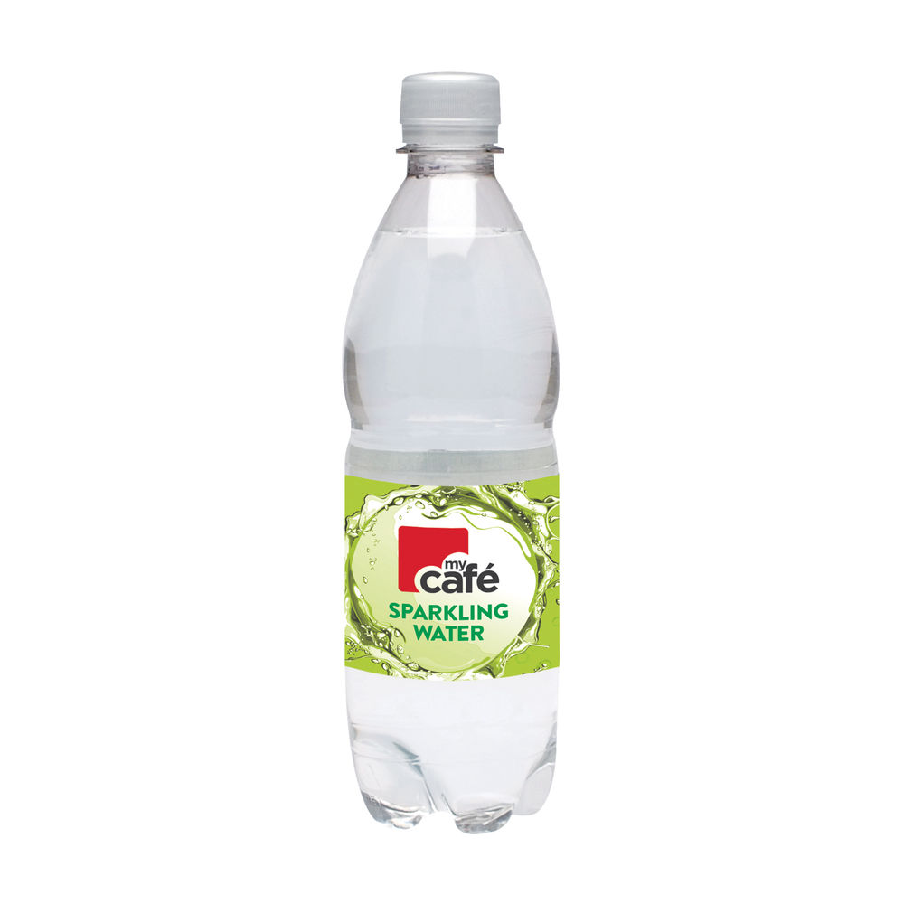 Mycafé Sparkling Bottled Water, 500ml - Pack of 24 - 0201029