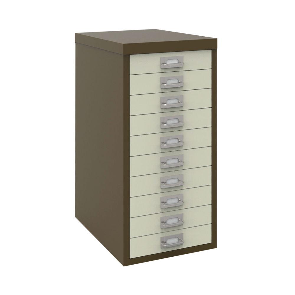 Bisley A4 Coffee/Cream 10 Drawer Filing Cabinet - H2910NL-005006