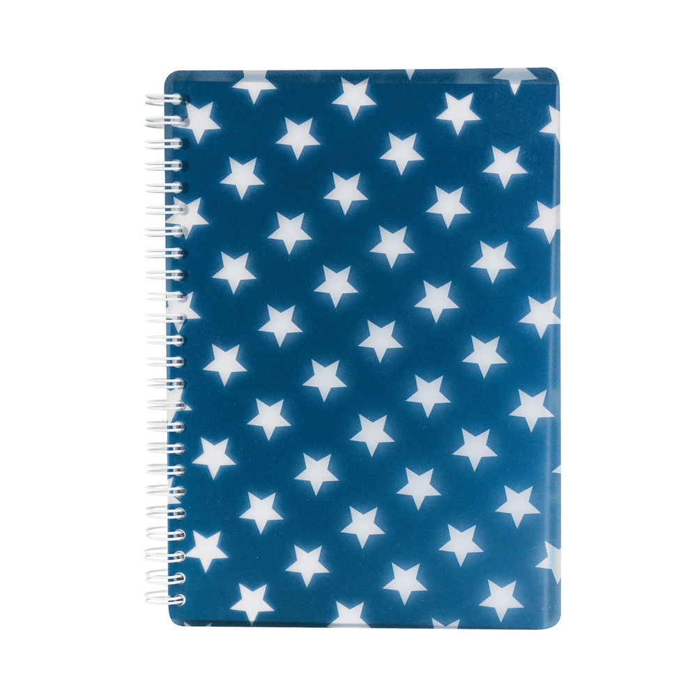 Go Stationery Navy A5 Stars Notebook – 5NC406