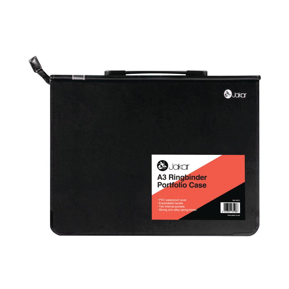 Jakar A3 Black Ring Binder Portfolio Case – 8013