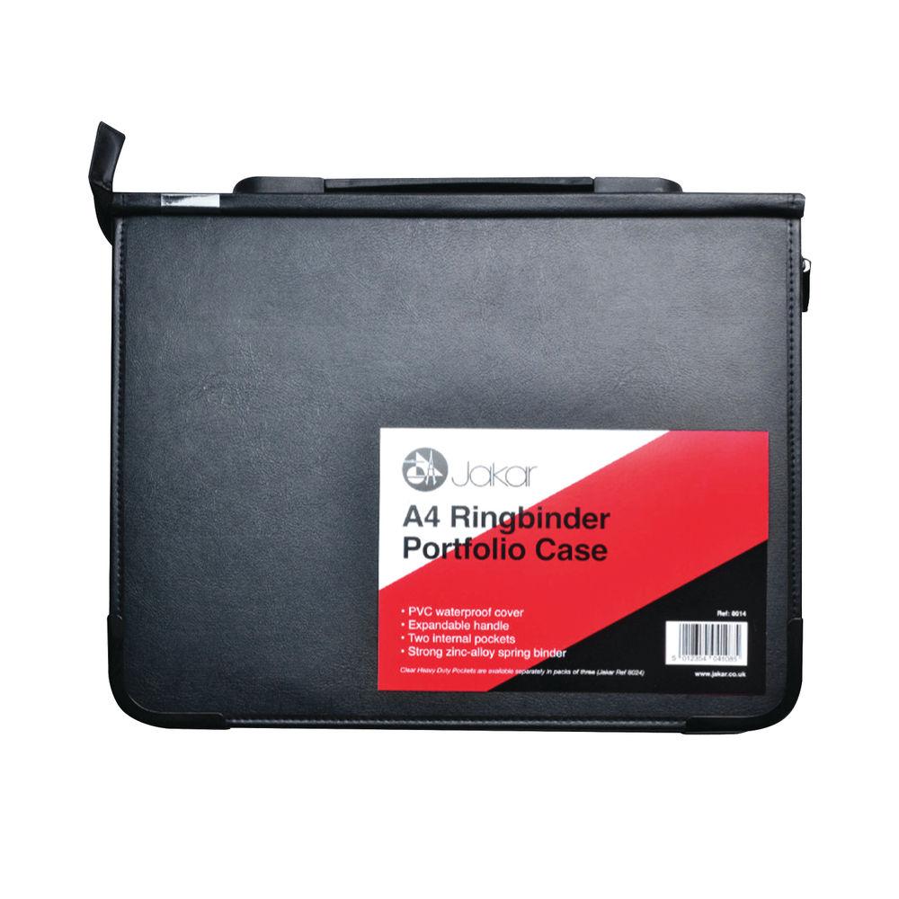 Jakar A4 Black Ring Binder Portfolio Case – 8014