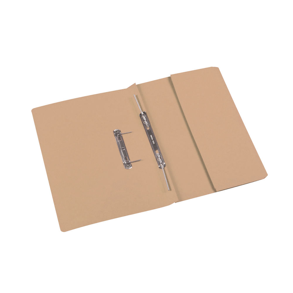 Rexel Jiffex Foolscap Buff Transfer Files 32mm (Pack of 25) - 15824