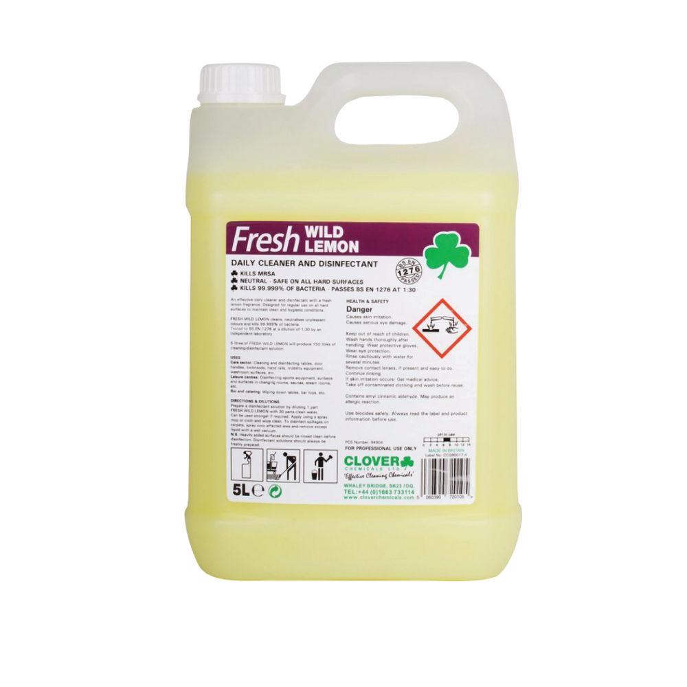 Clover 5L Fresh Wild Lemon Disinfectant (Pack of 2) – CC22933