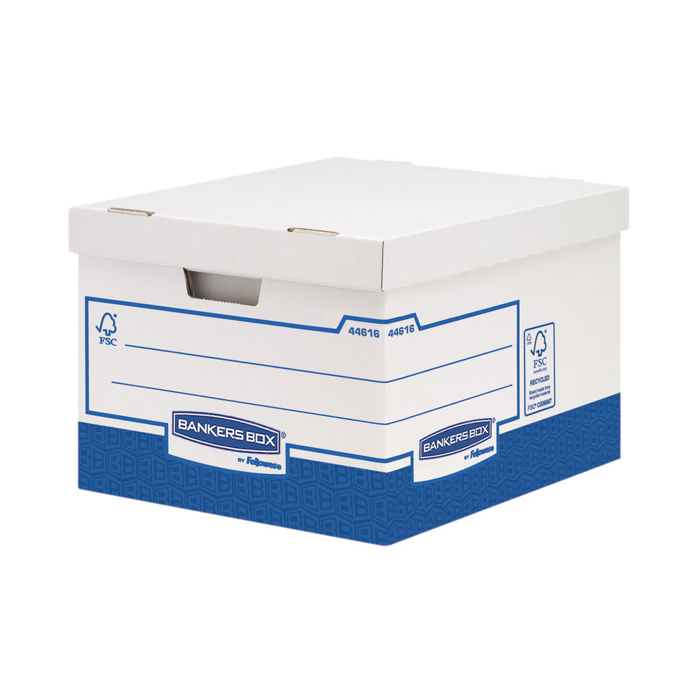 Bankers Box Basics Large Storage Boxes, Pack of 10 - 4461601