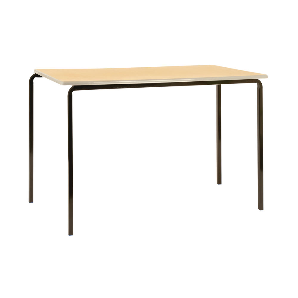 Jemini W1100 x D550 x H590mm Beech/Silver MDF Edged Class Tables, Pack of 4