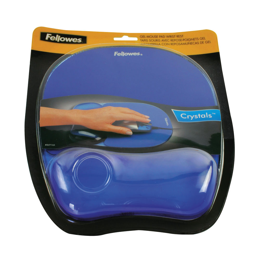 Fellowes Blue Crystals Gel Mouse Pad - 9114106
