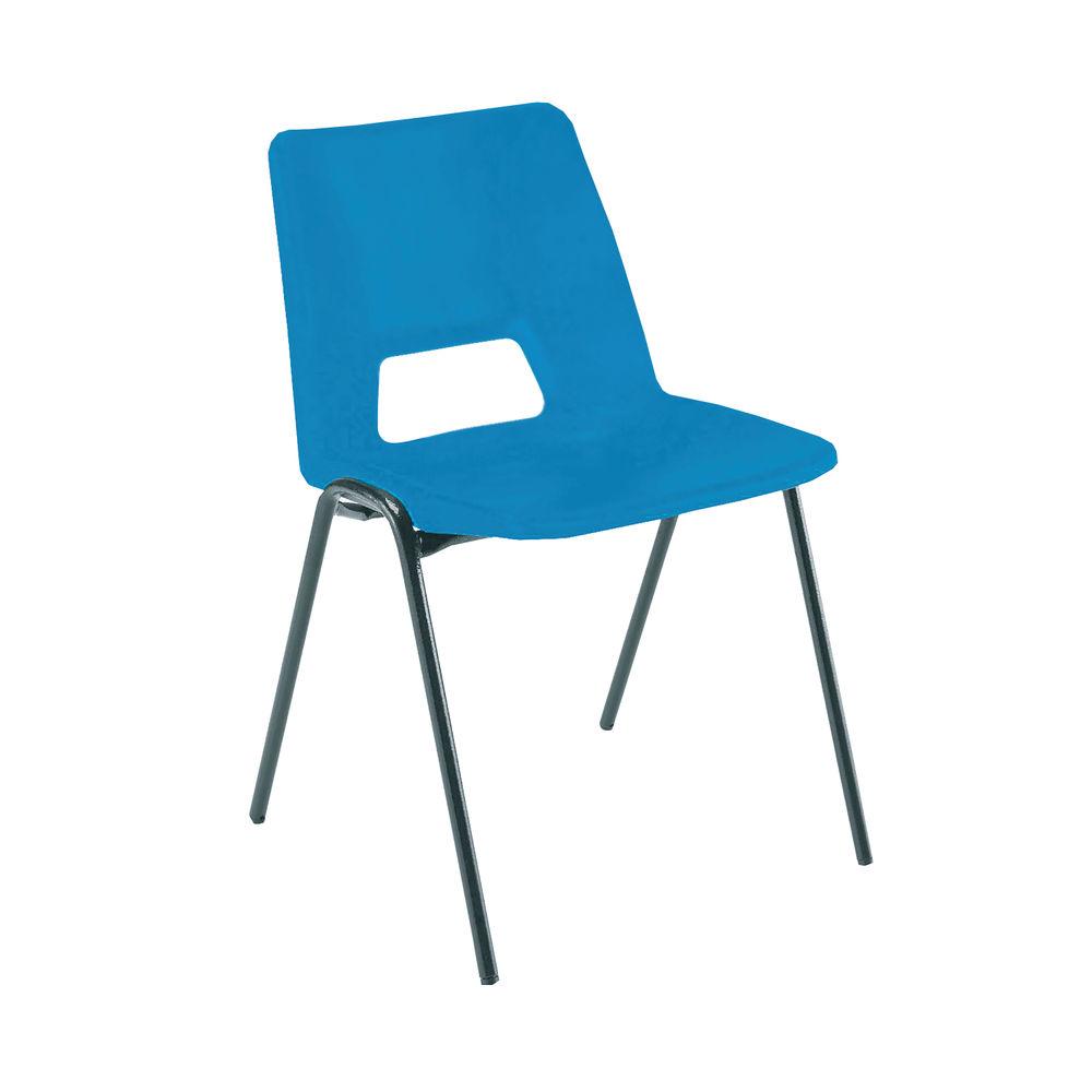Jemini Blue Polypropylene Stacking Chair