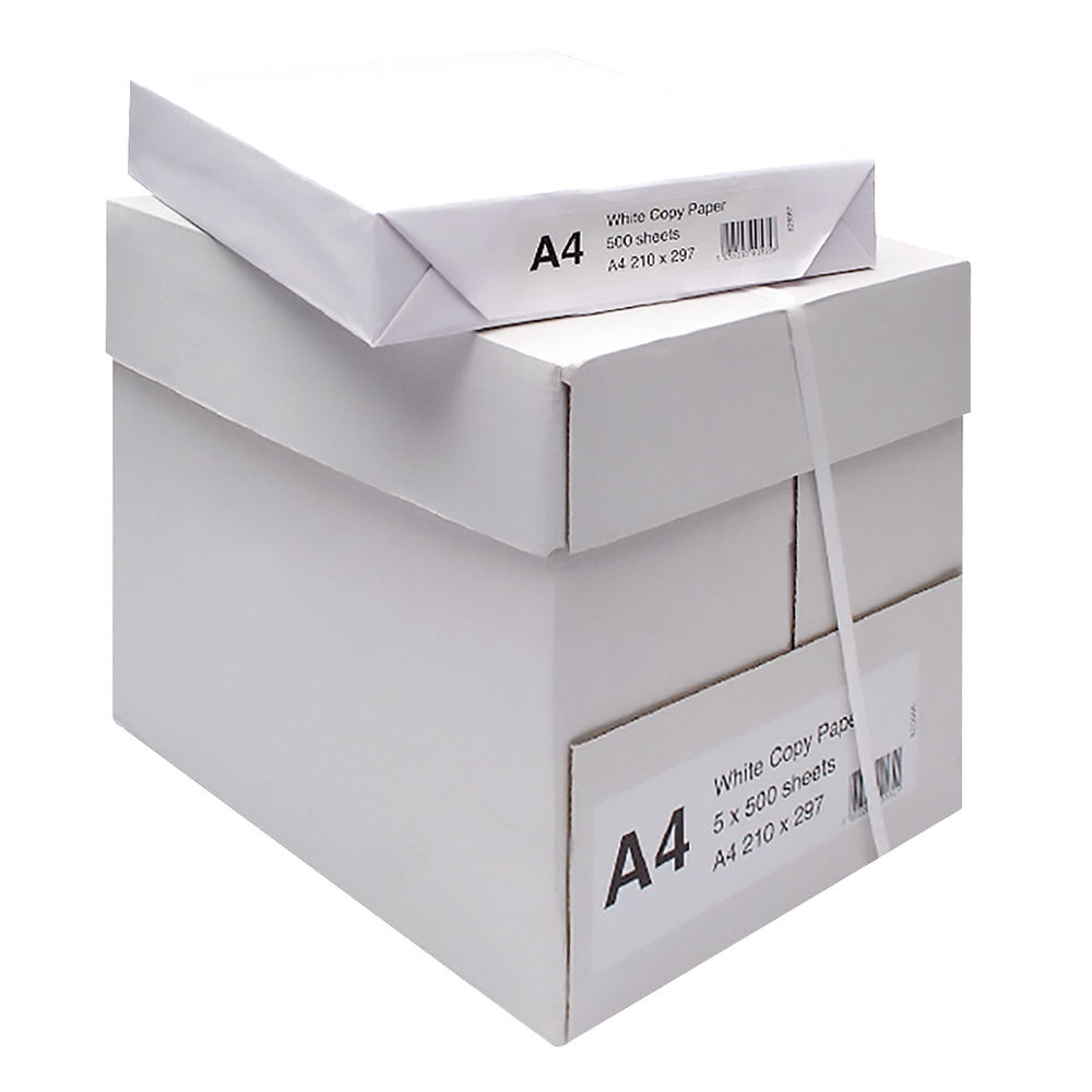 Multipurpose White A4 Paper, 70gsm (5 Reams per Box ) 2500 Sheets - WX01087