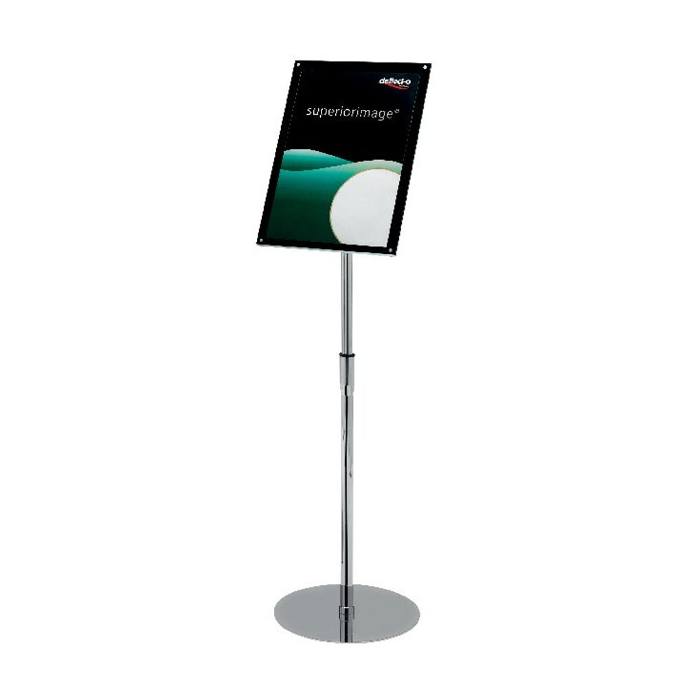 Deflecto A3 Chrome Bevelled Floor Sign Holder - DE790645