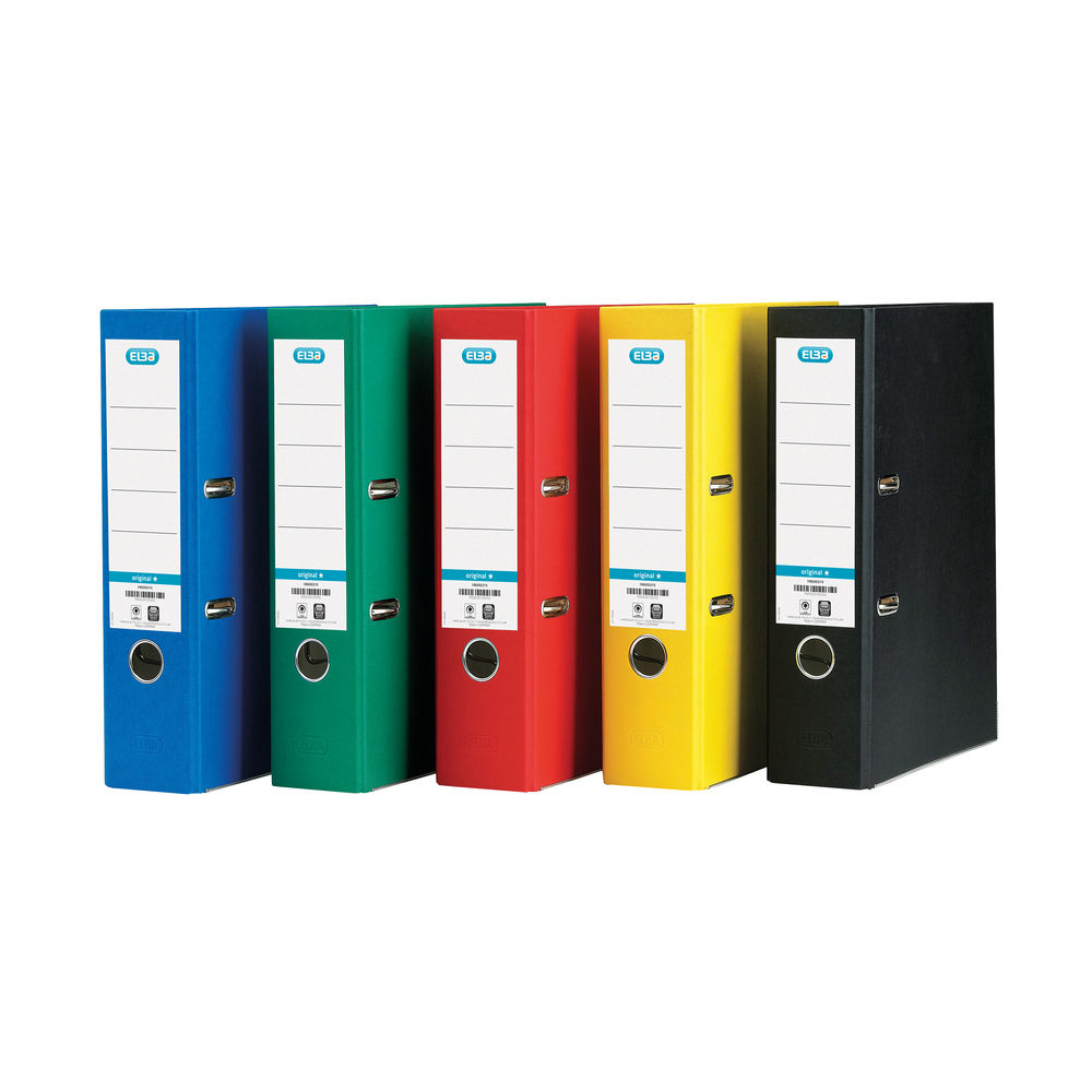 Elba Board Assorted A4 Lever Arch File 70mm - Pack of 10 - 100025220