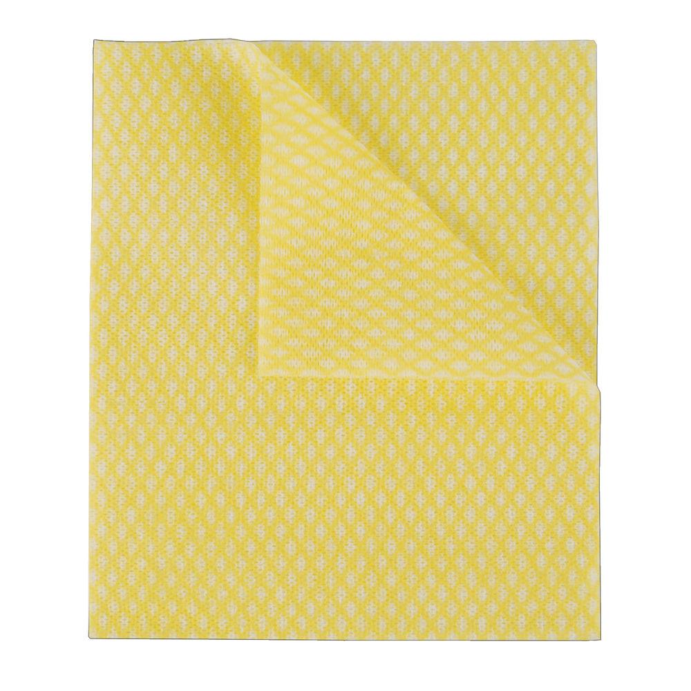 2Work Economy Cloth 420x350mm Yellow (Pack of 50) 104420YELLOW