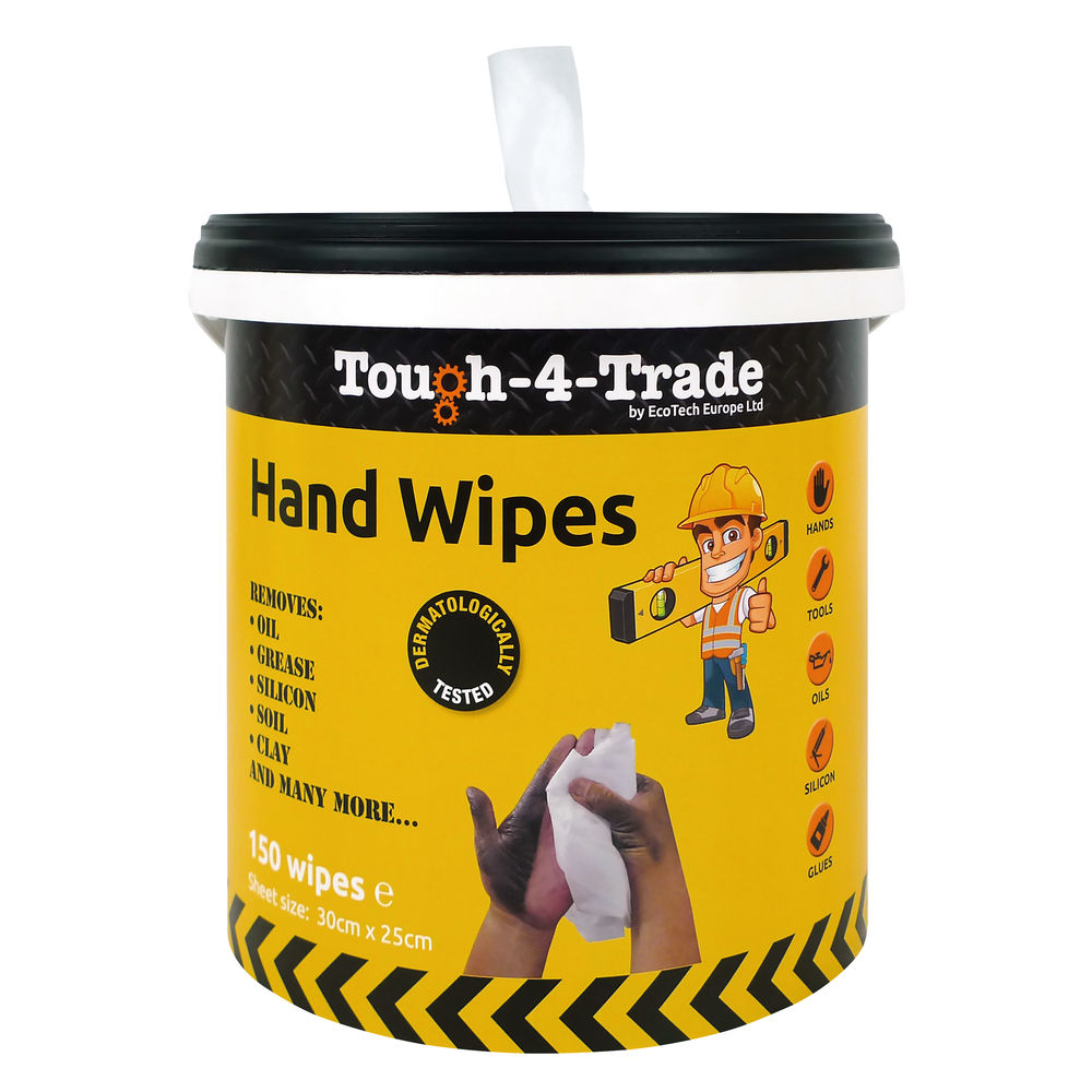 EcoTech Industrial Hand Wipes, Pack of 150 - EBMH150