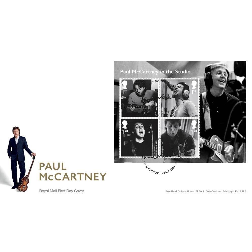 Paul McCartney Souvenir Miniature Sheet Cover