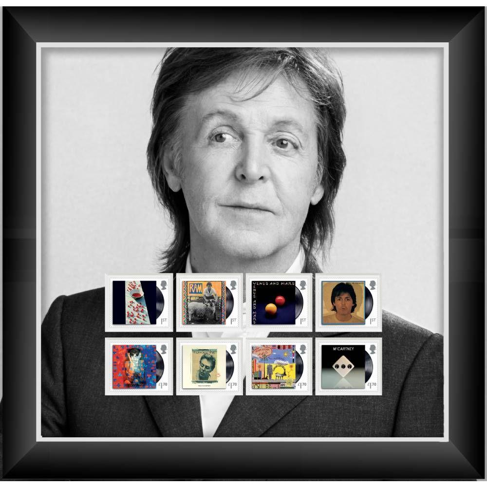 Paul McCartney Framed Stamp Set