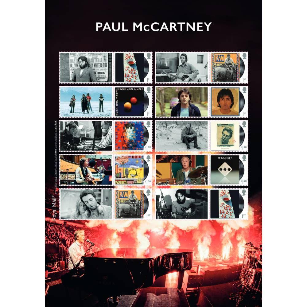 Paul McCartney Collectors Sheet