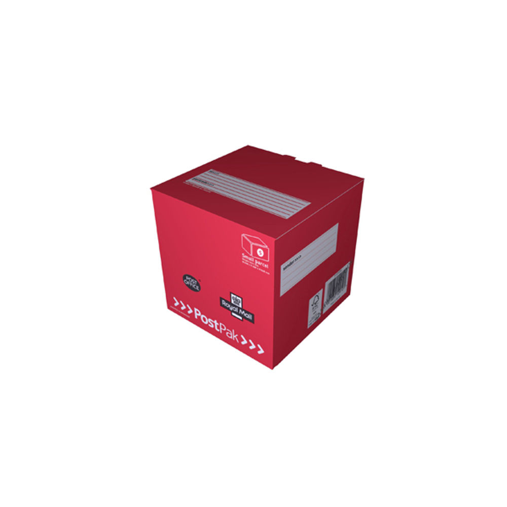 PostPak Small Parcel Red Cube Mailing Box, 160 x 160 x 160mm CAP12