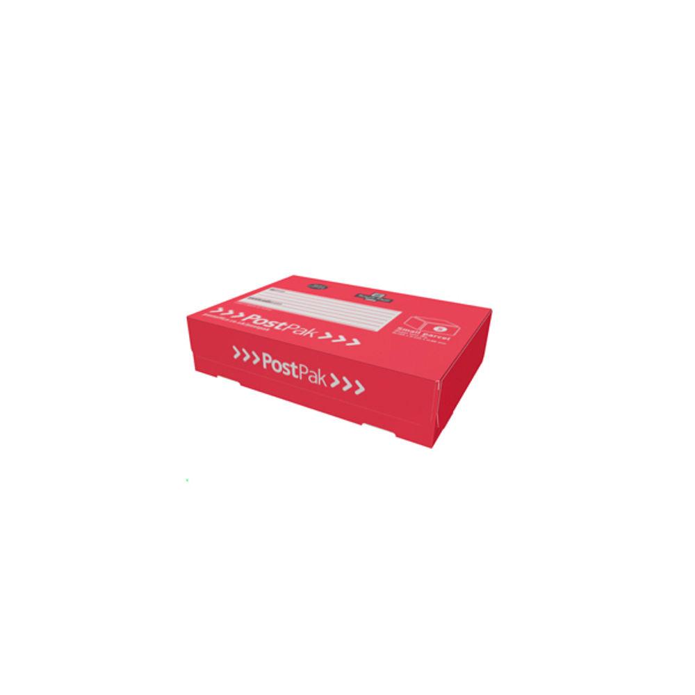 PostPak Small Parcel Half-Shirt Red Mailing Cardboard Box CAP13