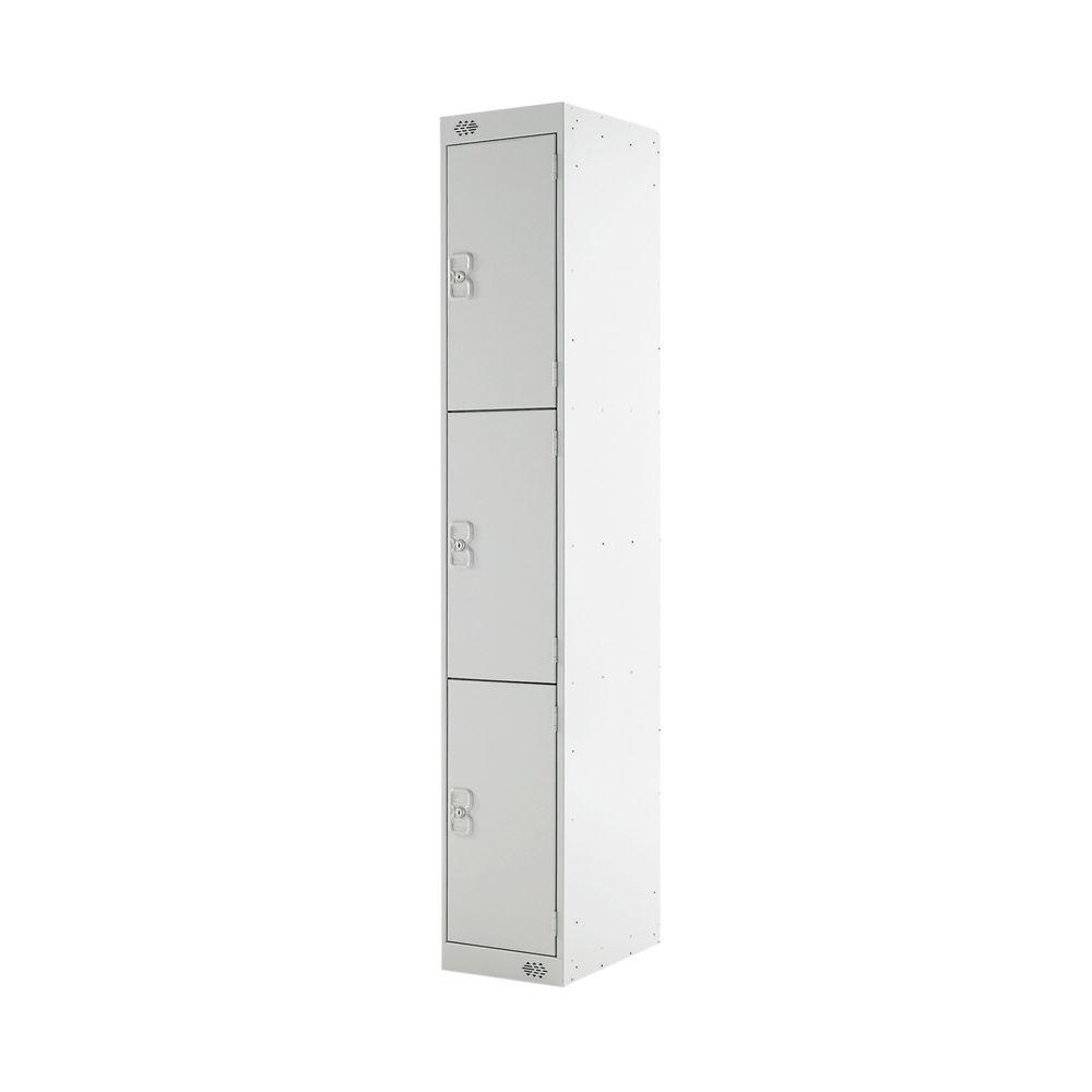 Three Compartment D450mm Light Grey Locker - MC00050