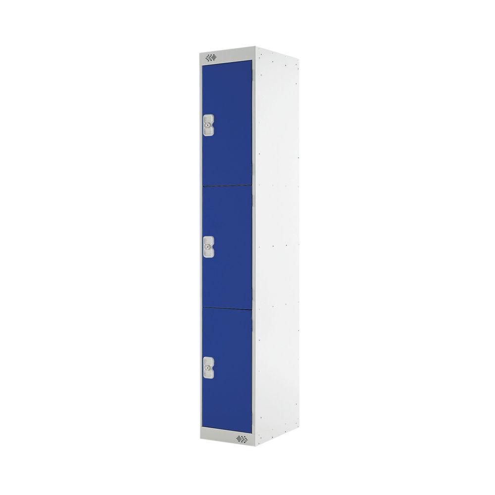 Three Compartment D450mm Blue Locker - MC00049