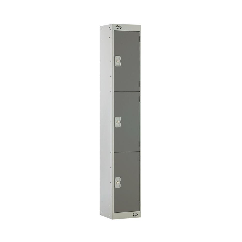 Three Compartment D450mm Dark Grey Locker - MC00051