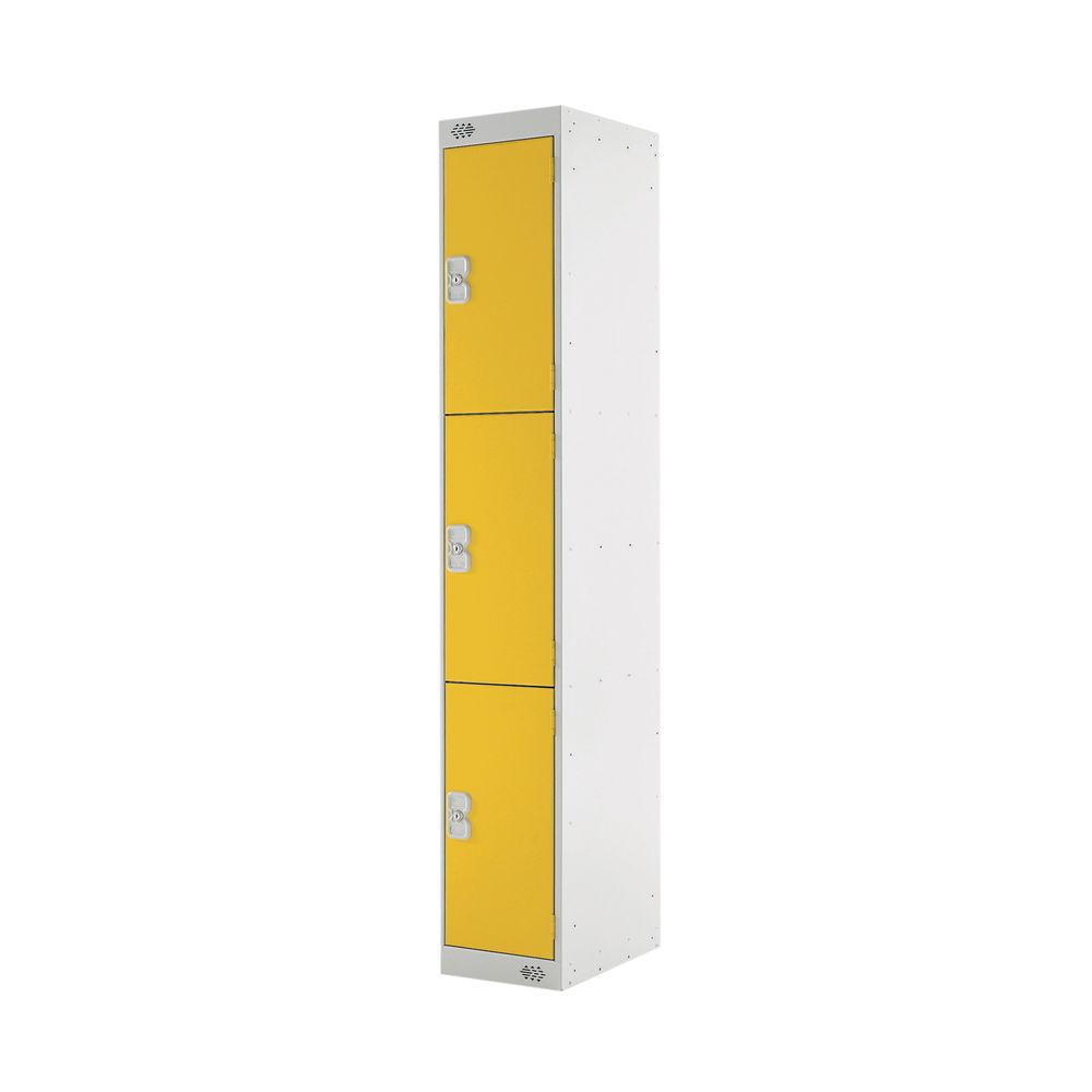 Three Compartment D450mm Yellow Locker - MC00054