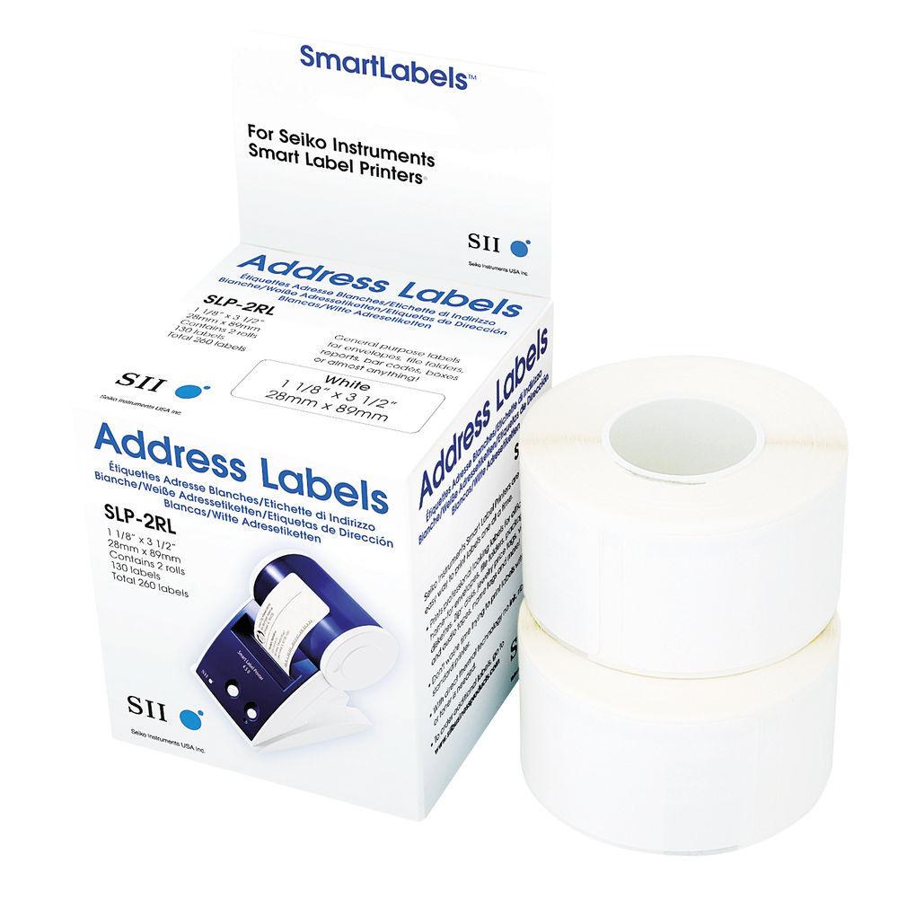 SEIKO 28 x 89mm White Address Labels, Pack of 260 - SLP-2RL