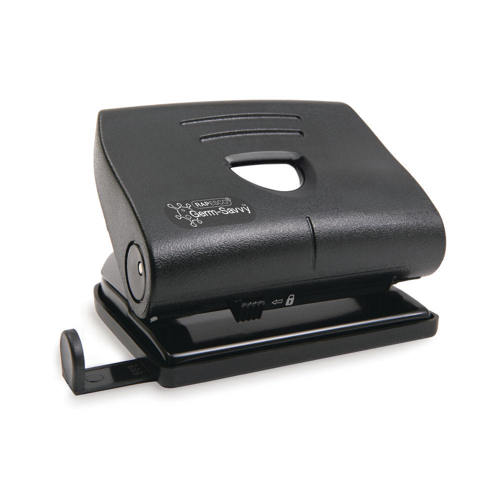 Rapesco Germ-Savvy 820-P 2-HoleHole Punch 22 Sheets Black PF8700B1