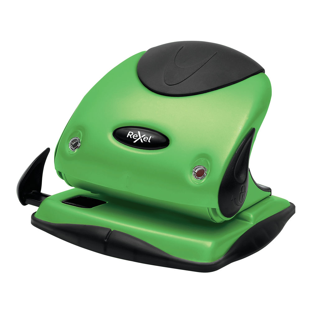 Rexel Choices P225 Green 2 Hole Punch - 2115694