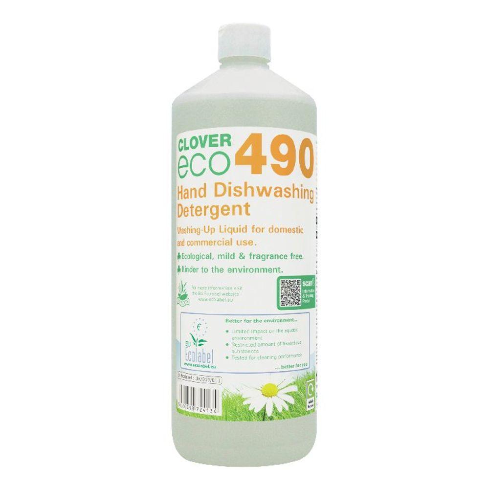 Clover 1 Litre 490 Dishwashing Detergent, Pack of 12 - 490
