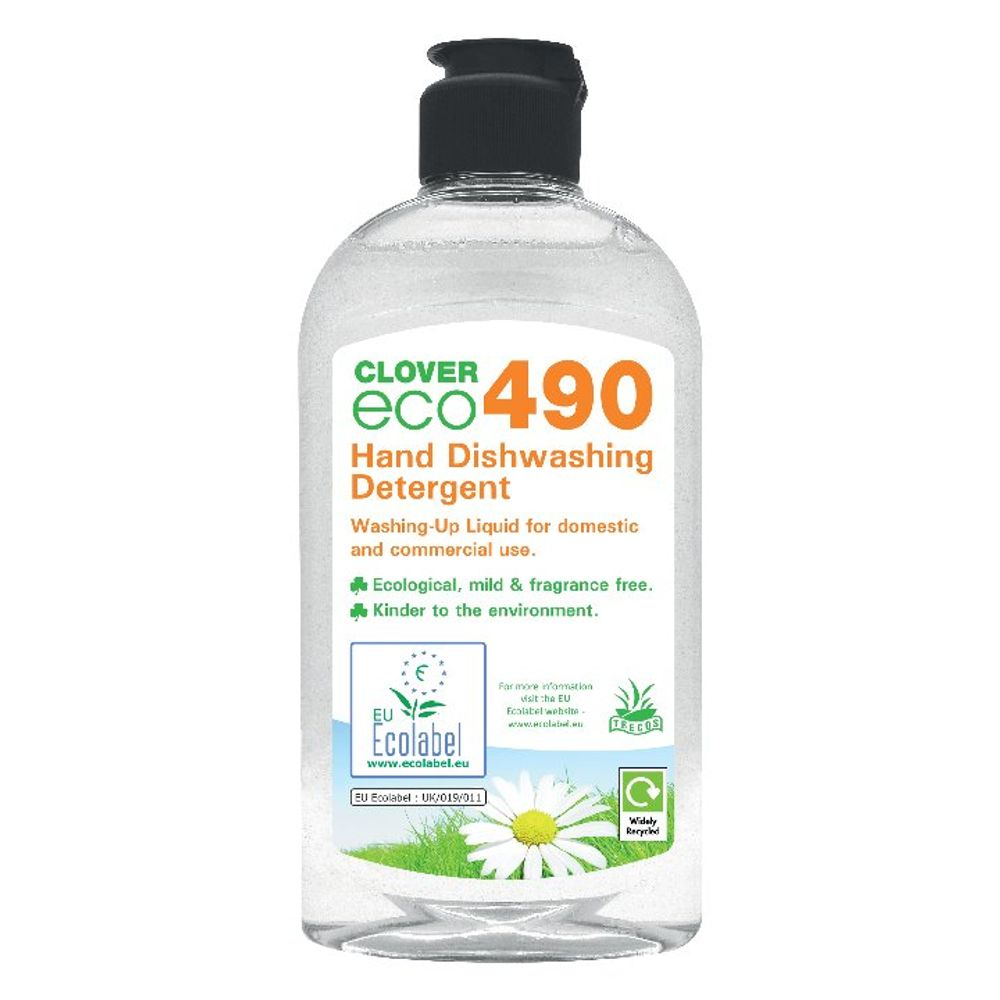 Clover 300ml Eco 490 Dishwashing Detergent, Pack of 6 - 490