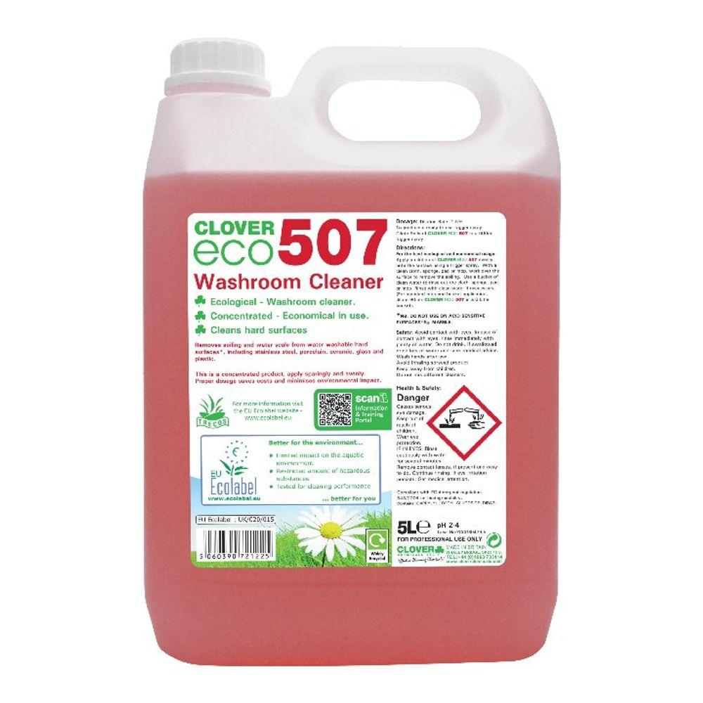 Clover 5 Litre ECO 570 Washroom Cleaner, Pack of 2 - 507